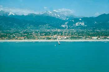 a view of Versilia landscape